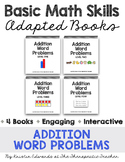 Basic Math Skills: Addition Word Problems Adapted Books