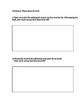 Basic Math Skills Assessment