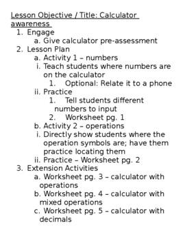 Basic Math Skills - Calculator Awareness