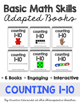 Basic Math Skills: Counting 1-10 Adapted Books