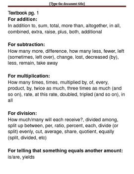 Basic Math Skills - How to Solve Word Problems