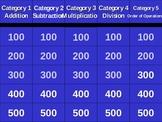 Basic Math Skills Jeopardy Powerpoint