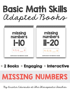 Basic Math Skills: Missing Numbers Adapted Books