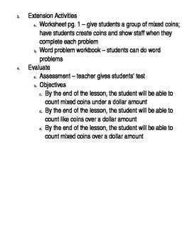 Basic Math Skills - Money - coins