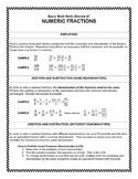Basic Math Skills Review #1:  Numeric Fractions
