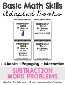 Basic Math Skills: Subtraction Word Problems Adapted Books