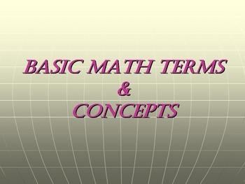 Basic Math Terms & Concepts