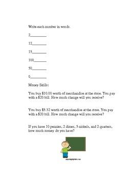Basic Math worksheets for Extended Work!