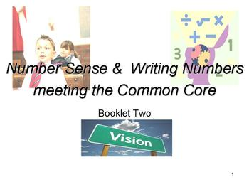 Number sense & Writing Numbers: Meeting the Common Core: Booklet Two