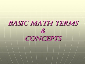 Basic Math Terms & Concepts