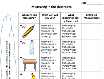 Basic Measurement Activities - Worksheet