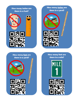 Basic Measurement QR Code Scavenger Hunt