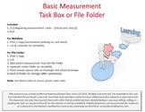 Basic Measurement Workbox or File Folder
