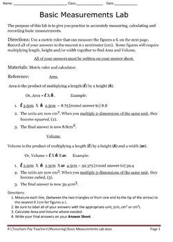 Basic Measurements Lab