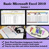 Basic Microsoft Excel 2010 with Video Lesson 1 of 3