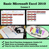 Basic Microsoft Excel 2010 with Video Lesson 2 of 3