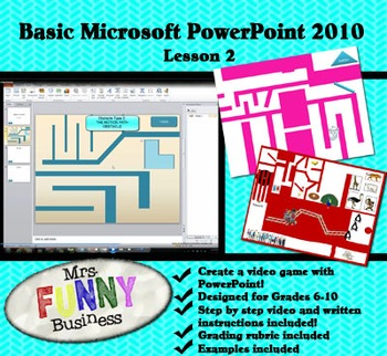 Basic Microsoft PowerPoint 2010 with Video Lesson 2 of 3 - Create a Video Game!