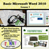 Basic Microsoft Word 2010 with Video Lesson 3 of 3