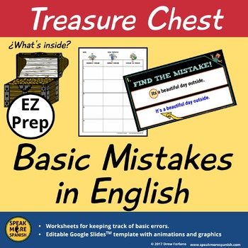 Basic Mistakes in English. Worksheet & Google SlidesTM for Grammar & Vocabulary