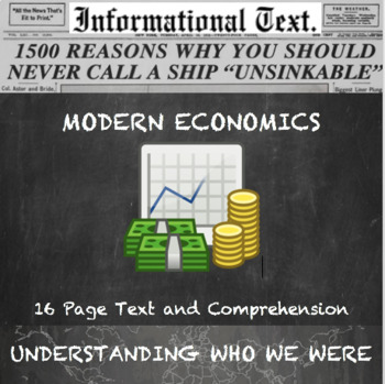 Basic Modern Economics--Informational Text and Anchor Charts