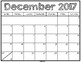 2017-2018 Basic Monthly Calendar with Free Yearly Updates (Black & White)