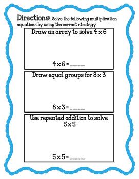 Basic Multiplication Assessment