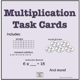 Basic Multiplication Concepts Task Cards for Math Centers