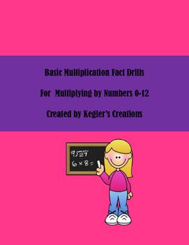 Basic Multiplication Fact Drills