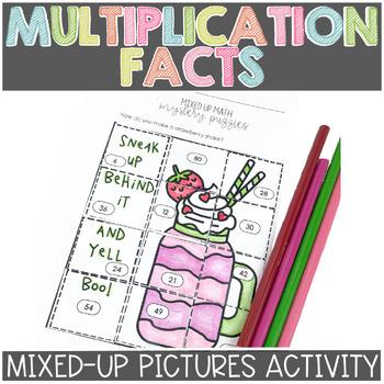 Basic Multiplication Fact Fluency Mixed Up Math Puzzle
