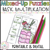 #tpttreats Basic Multiplication Fact Fluency Mixed Up Math Puzzle