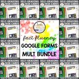 Basic Multiplication Facts 0-12 Google Forms™ MEGA BUNDLE