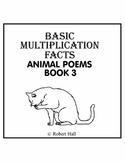Basic Multiplication Facts Animal Poems - Book 3