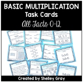 Basic Multiplication Facts Task Cards (For the 0-12 Facts)