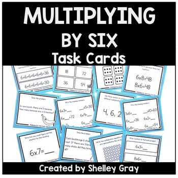 Basic Multiplication Facts Task Cards: Multiplying by 6