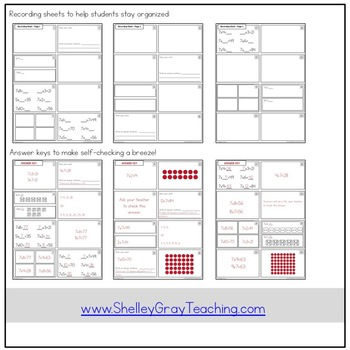 Basic Multiplication Facts Task Cards: Multiplying by 7