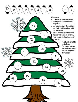 "Basic Multiplication Game - ""Decorate It"""
