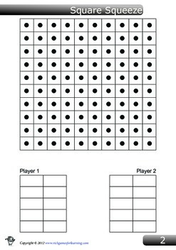 Basic Multiplication Game - Square Squeeze