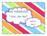 "Basic Multiplication, ""I Have, Who Has?"" Game"