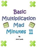 Basic Multiplication Mad Minute Set 2