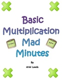 Basic Multiplication Mad Minute Set