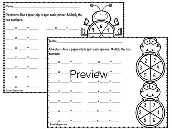 Multiplication Print and Go: 21 No Prep Pages