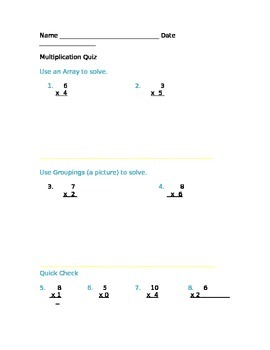 Basic Multiplication Quiz
