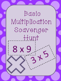 Basic Multiplication Scavenger Hunt