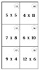 Basic Multiplication Task Cards (18 altogether, recording AND answer sheet)