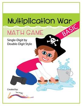 Multiplication War – Basic Level Math Game: Single-Digit by Double-Digit