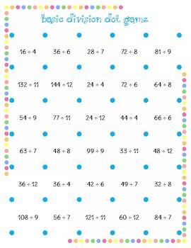Basic Multiplication and Division Dot Games