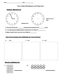 Basic Multiplication and Time Test