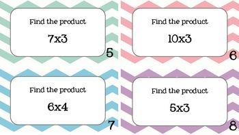 Basic Multiplication task cards