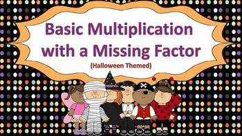 Basic Multiplication with a Missing Factor Task Cards {{Ha