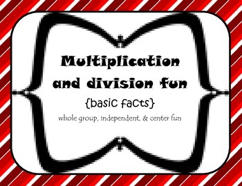 3rd grade basic Multiplication/Division {independent, center, small group fun}
